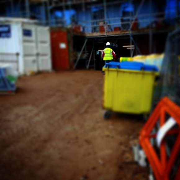 A worker on site.