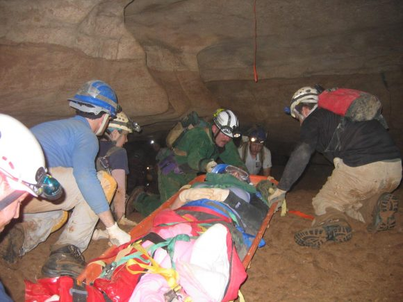 Cave rescue efforts.