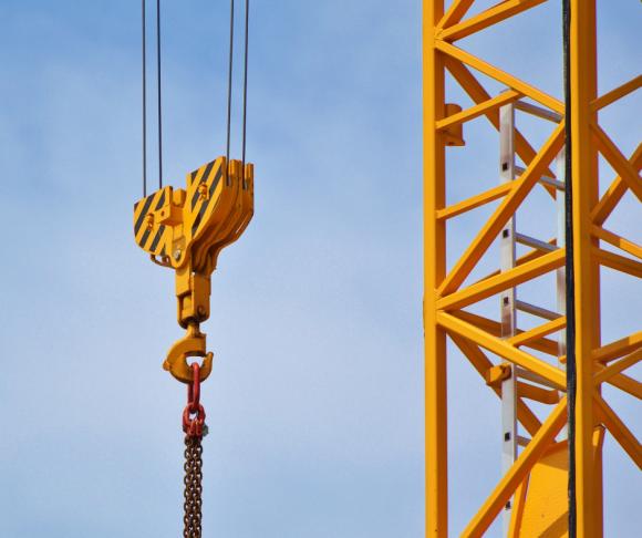 A yellow crane