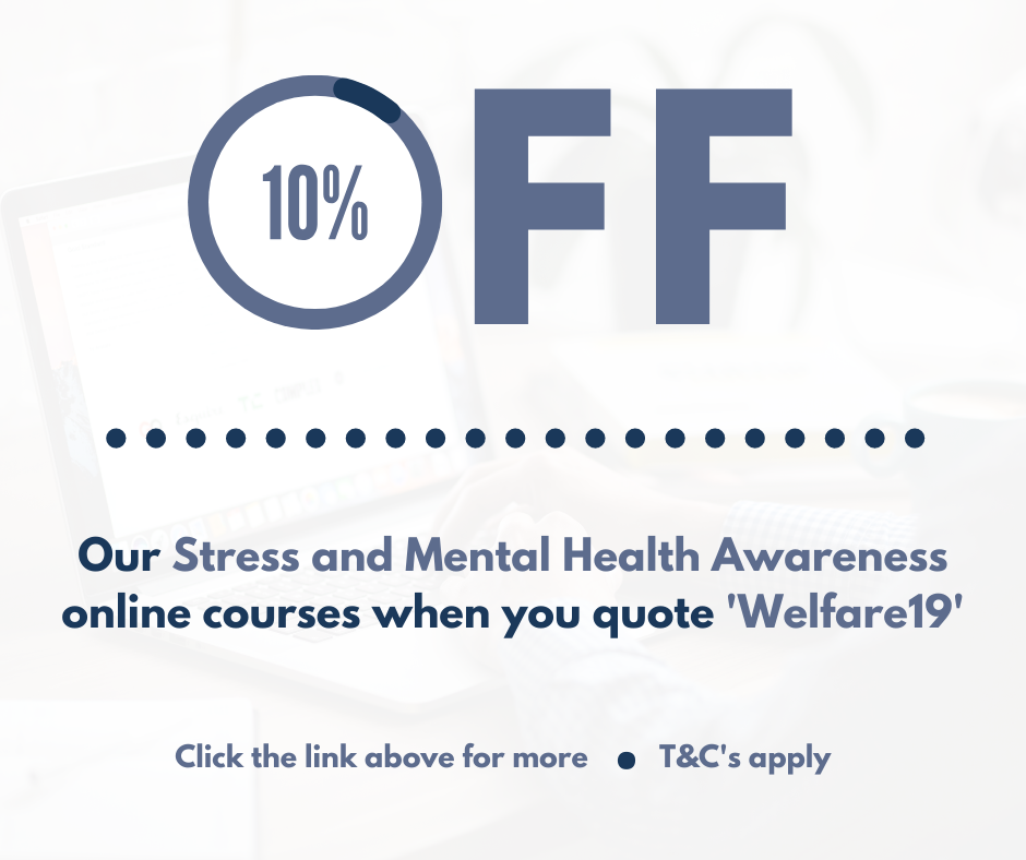 10% Off Stress and Mental Health Awareness Courses