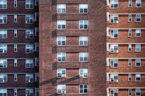 Blocks of high-rise flats.