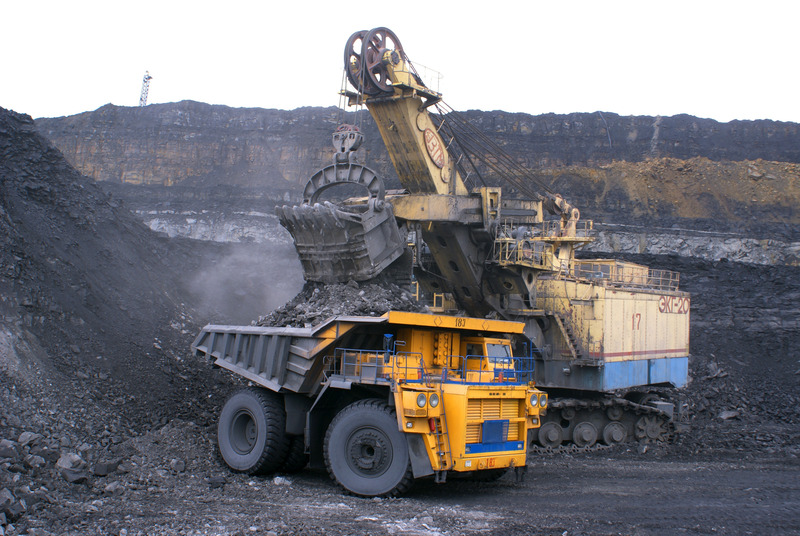 An excavator in a coal mine.