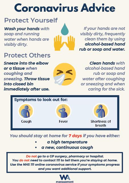 Coronavirus Advice Poster