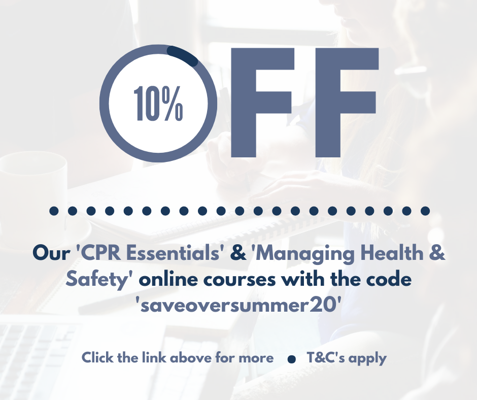 10% off CPR Essentials and Managing Health & Safety course
