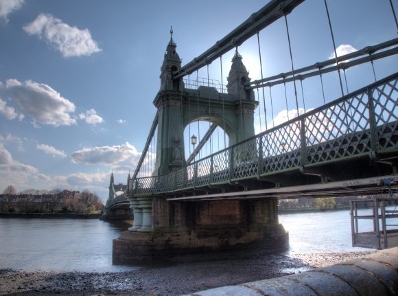 Hammersmith bridge in London
