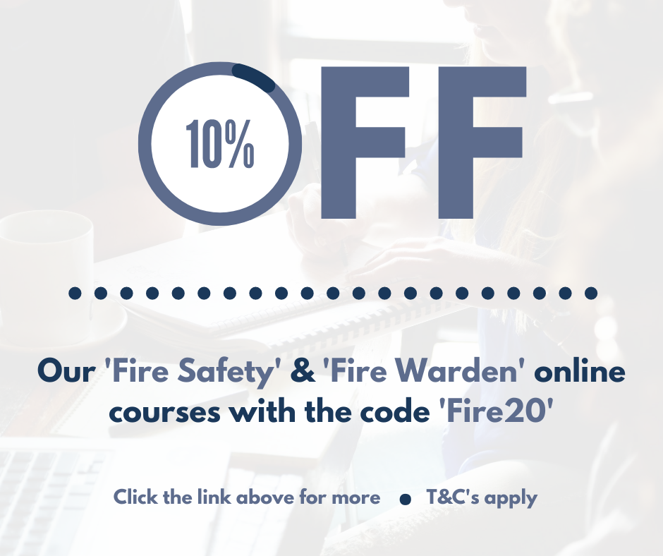 10% off our Fire Safety & Fire Warden online courses with the code 'Fire20' for September HOM