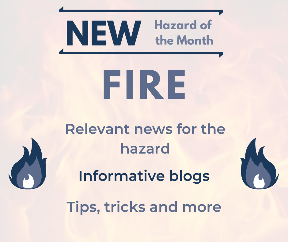 New Hazard of the Month 'Fire' for September 2020