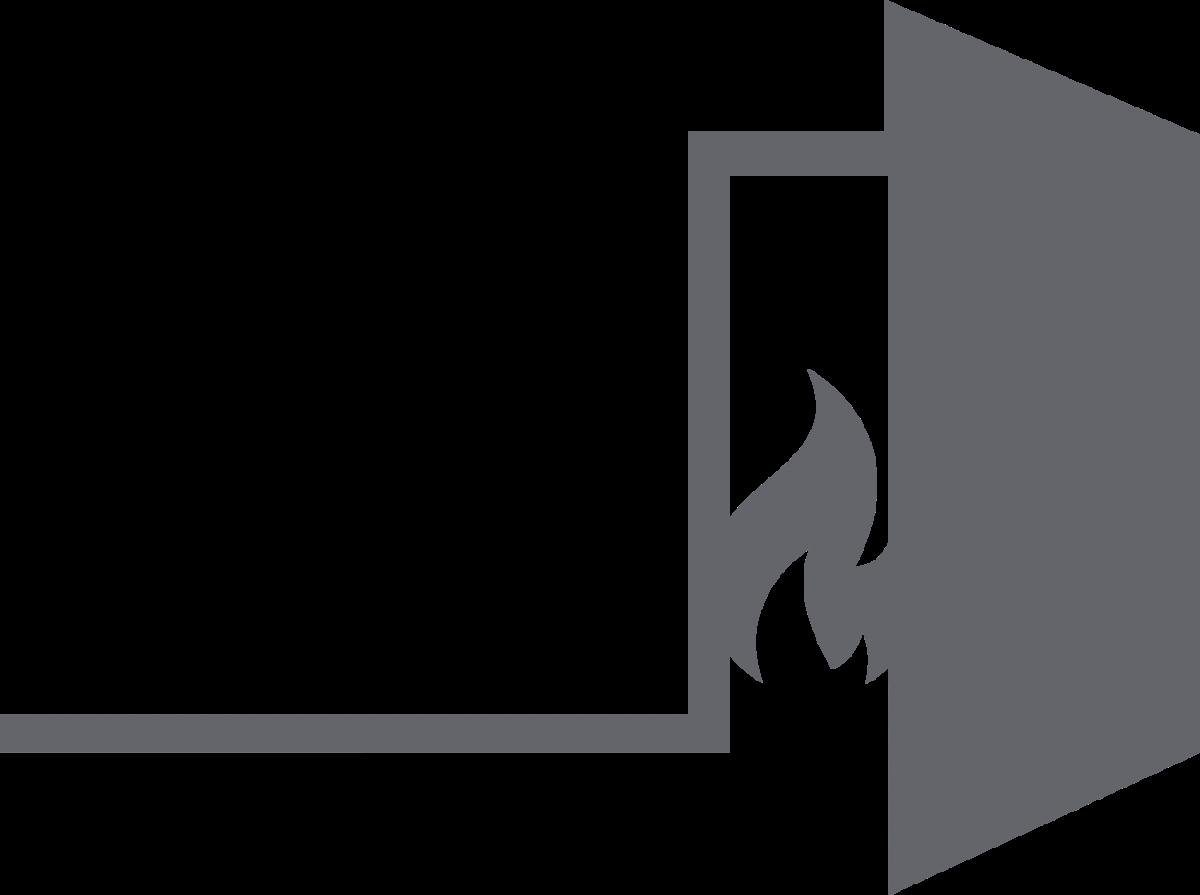 An illustration of a fire door.