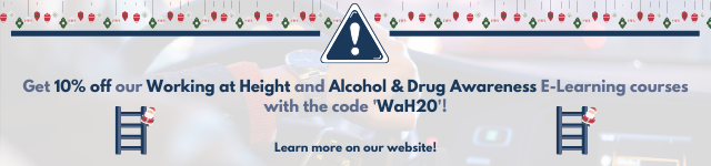10% off Working at Height and Alcohol & Drug Awareness online training courses with the code 'WaH20'.