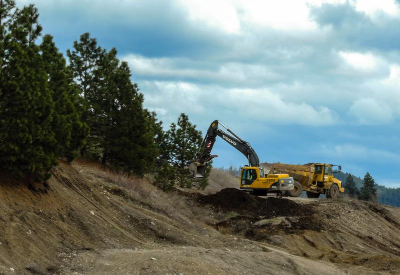 An excavator on site.