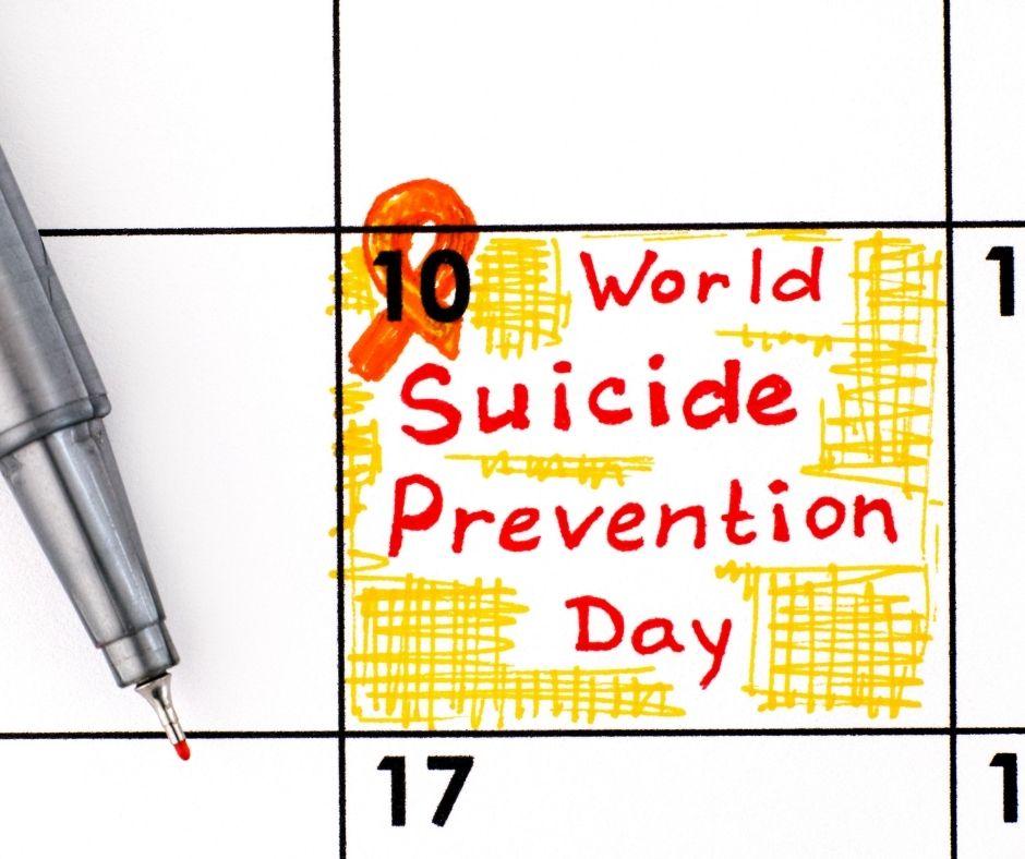 World Suicide Prevention Day written on calendar