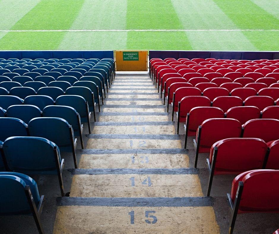 Football stadium steps